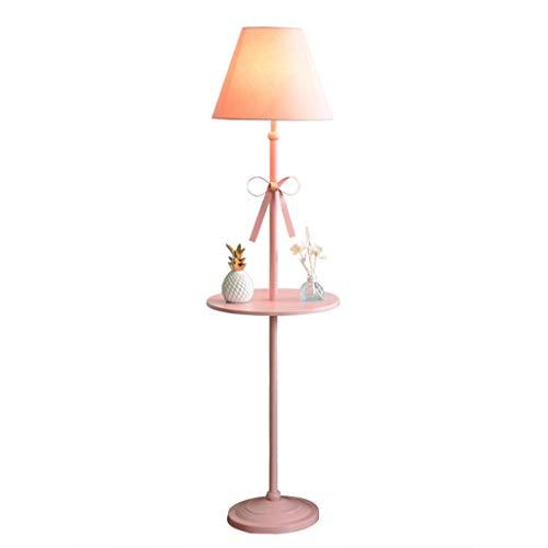 Lampes de chevet Lampadaire Salon Chambre Chevet Canapé Table Basse Lampe De Sol Creative Girl Lampe De Plancher Rose Lampe De Sol en Métal (Color : Pink, Size : 40 * 160cm)