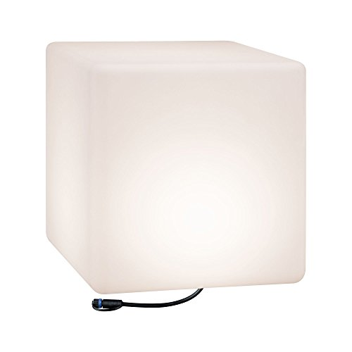 Paulmann 941.82 Outdoor Plug & Shine lichtobject Cube IP67 3000K 575lm 24V kubus lamp decoratieve kubus buitenverlichting tuinverlichting terrasverlichting 94182
