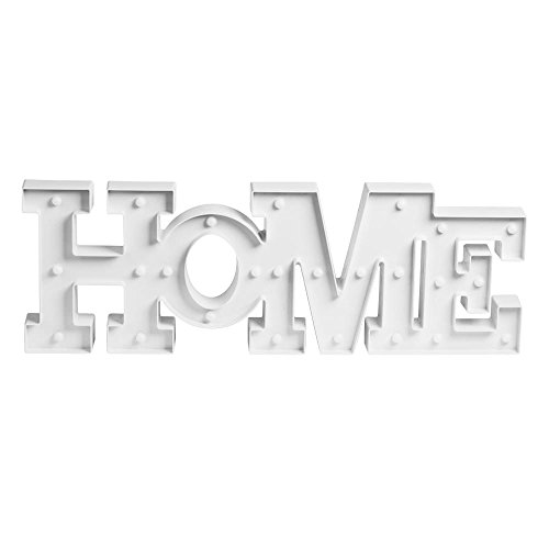 TABLE PASSION - Lettres Lumineuses Deco 25 Ampoules LED Home Blanc 65 x 23 cm