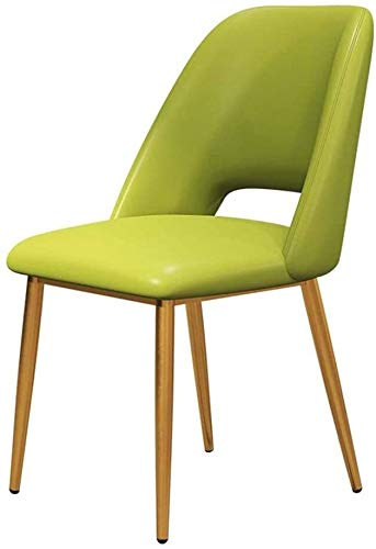 DEWUFAFA Silla Moda for Silla de Comedor, Cuero Artificial Brillante Silla de la Cocina Silla de Oficina (Color : Green)