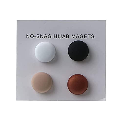 Osuner Broche magnético, Clip de Hijab magnético Fuerte, Broche de Hijab Oculto Seguro, Accesorio de Lujo, alfileres sin Orificio, Broche con imán