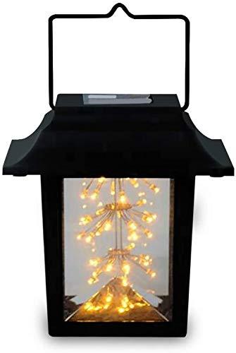 CBY Solar Lights, LED Solar Lantern Hanging Lantern Outdoor Landscape Lighting for Patio Yard Path, for Courtyard Wedding Party Christmas(2PCS)