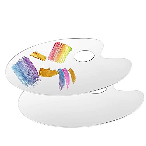 Paleta farb, 2 szt. akrylowa paleta farb olejnych plastikowe przezroczyste palety malarskie do malowania mokrych akwareli mieszania palet dorosłych 30 * 40 cm