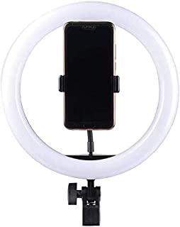 DORA SL Small LED Ring Light for Live Streaming & YouTube Video, Dimmable Desk Makeup Ring Light for Photography, Shooting with 3 Light Modes & 10 Brightness Level(Size)