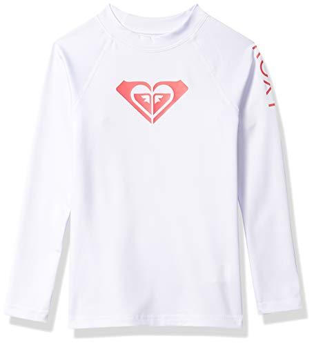 Roxy Girls' Little Whole Hearted Long Sleeve Rashguard, Bright White 2020, 6