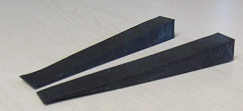 Gummistimmkeile schwarz 100x13 mm - 2 Stück zum stimmen von Klavieren und Flügeln
