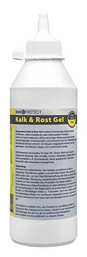 Nanoprotect Kalk & Rost Gel | Profi Kalkentferner für hartnäckige Rückstände | Schonender Flugrostentferner | Kraftvoller Urinsteinentferner | 0,5 kg