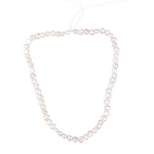 FENICAL Natural Barroco Collar de Perlas cultivadas de Agua Dulce Blanca Moda Irregular Torque Collar de Perlas