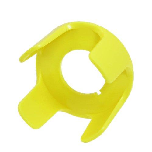 22 mm diameter geel kunststof viervoetige wandelstok beschermingsrooster voor schakelaar druk op de knop