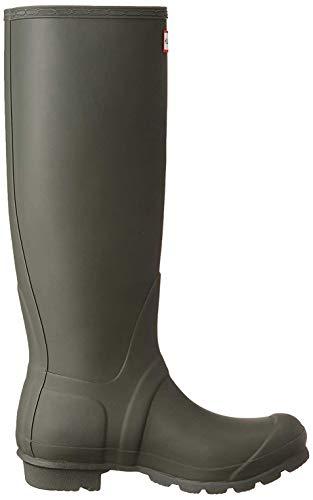 Hunters Unisex-Erwachsene Original Tall Adjustable Gummistiefel, Mehrfarbig (Dark Olive/Yellow), 37