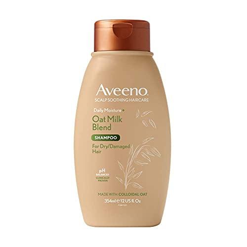 Aveeno Champú para el cabello calmante y humedad diaria con leche de avena para cabello seco dañado, 354 ml