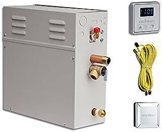 EliteSteam 7.5 kW Steam Shower Generator Kit (Includes Steam Generator, Control, Steam Head, Cable) (Polished Nickel Insid...