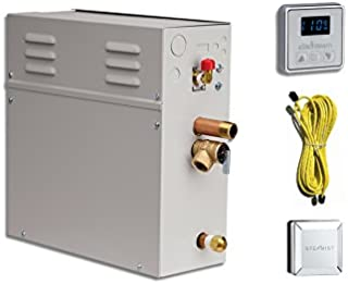 EliteSteam 7.5 kW Steam Shower Generator Kit (Includes Steam Generator, Control, Steam Head, Cable) (Polished Nickel Inside Control)