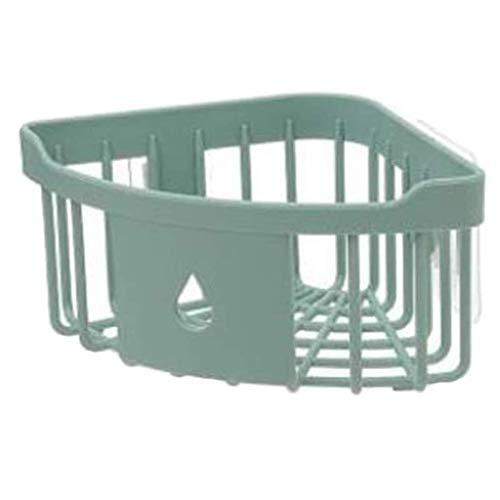 ZYING Cuarto de baño WC en los estantes del sacador Triángulo de baño Estante WC montado en la Pared de Almacenamiento en Rack de Almacenamiento en Rack (Color : Green)