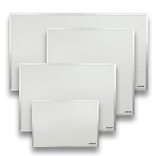 AUROM Infrarotheizung Sonplex – Elektroheizung Aluminium, Weiß, Heizpaneel für Wandmontage, elektrisch, 300 - 1100 Watt, neueste Infrarot Heiztechnik, IPX4 Nässe-Schutz, 2 J. Garantie (550 Watt)