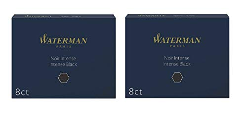 Waterman Tintenpatronen, lang, schwarz, 2Packungen mit 8Stück