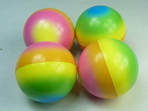 060166, 4 große Knautschball 7,0 cm, regenbogenfarben, Softball, Springball, Stressball Fußball, Fussball, Knetball, Antistressball, Knautschbälle, Stressbälle, Antistressbälle, Mitgebsel, Mitbringsel
