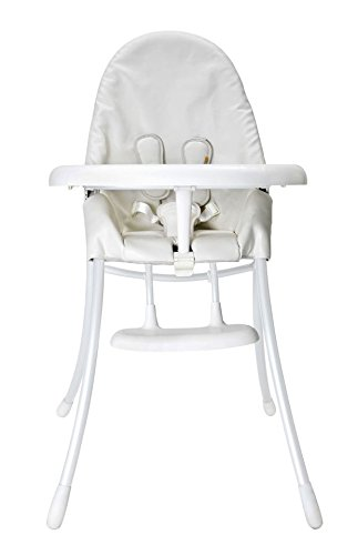 bloom Nano Folding High Chair in Coconut White