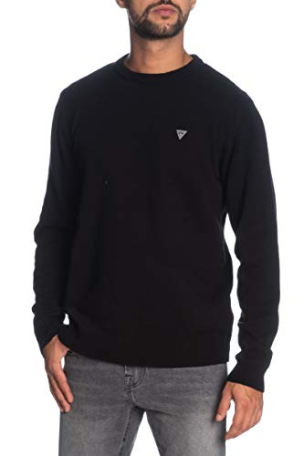 Guess heren pullover lange mouwen zwart