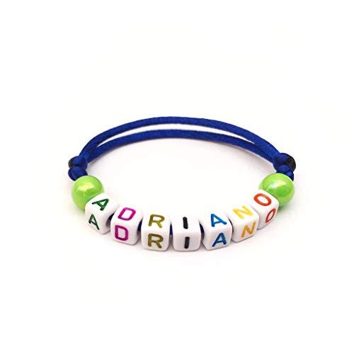 Pulsera ADRIANO ajustable reversible con nombre, texto, logotipo, mensaje; regalo personalizado mamá, papá, cumpleaños, navidad, nacimiento, boda, bautizo
