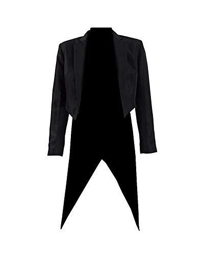 Expeke Womens Magician Tailcoat Zatana Cosplay Jacket Tuxedo Halloween Coat Costume (Women S, Black)