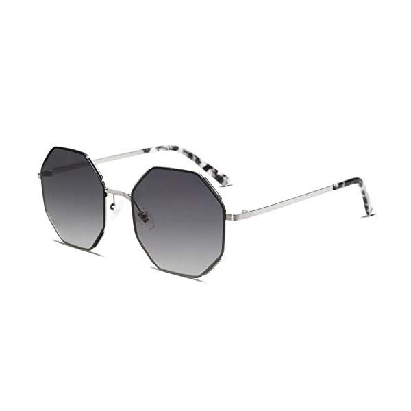 SOJOS Sunglasses for Women Polygon Sunglasses UV400 AURA SJ1128