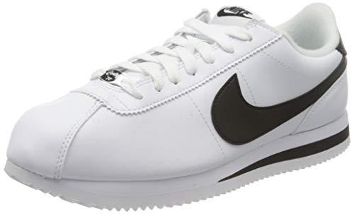 Nike Mens Cortez Basic Leather Shoe, Zapatillas de Trail Running para Hombre, Multicolor (White/Black/Metallic Silver 100), 41 EU