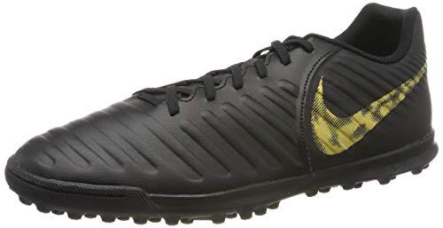 Nike Legendx 7 Club TF, Herren Fußballschuhe, Schwarz (Black/Mtlc Vivid Gold 077), 41 EU (7 UK)