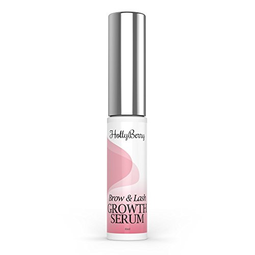 Eyelash Growth Serum and Eyebrow Max strength peptide Enhancing Conditioner For Longer Lash and Brows by Hollyberry Cosmetics