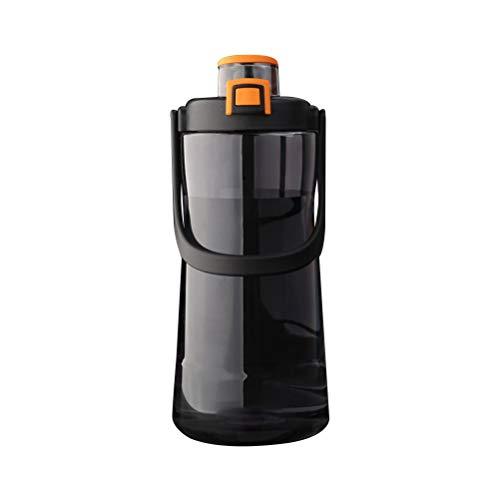 Gazaar Botella de agua portátil con agarre Aqua Grip de 2100 ml, botella de agua de gran capacidad con filtro a prueba de fugas, botellas deportivas para trabajo escolar, senderismo al aire libre