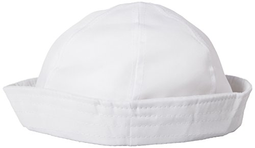 12 white sailor hats - one dz hats fits kids and average adults by Unknown