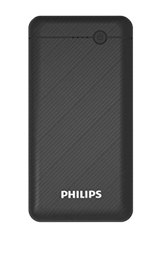 Philips DLP1710CB Fast Charging Power Bank 10000mAh with Lithium Polymer Battery Black (Dual USB Output Port, with Micro USB and Type c Input)