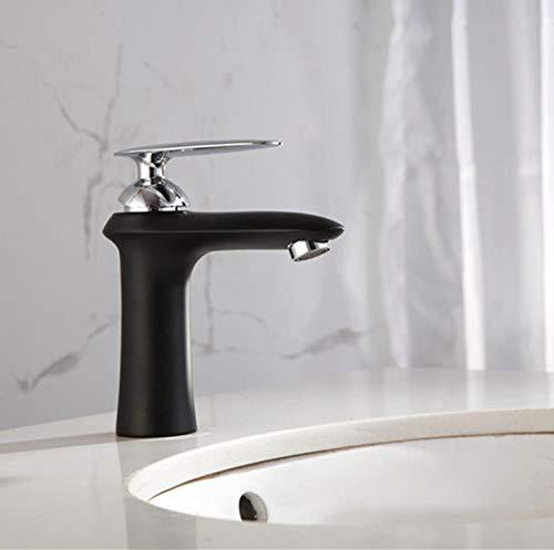 rubinetto cucina rubinetto bagno miscelatore bidet rubinetto bidet rubinetti bagno Miscelatore nero opaco con vernice satinata Rubinetto per bagno Lavabo Rubinetto Rubinetto tondo caldo e freddo