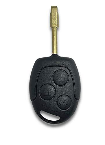 Shoppy Lab Compatibile Con Chiave Guscio Scocca Cover Telecomando 3 Tasti Ricambio Autovetture Ford Fiesta Focus Mondeo Ka Transit Chiave Completa di Guscio E Lama