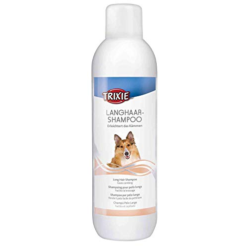 Trixie Champú Perros Pelo Largo - Higiene Perro Champú para Perros Champú Pieles Sensibles Champú Cepillado Envase Grande 1 Litro