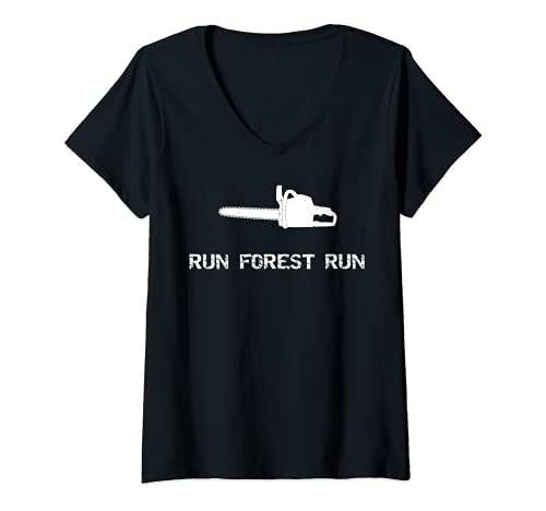 Damen Run Forest Run Lustige Kettensäge...