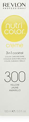 Revlon Professional Nutri Color Crème 3 in 1 Cocktail Tubo Colore Tonalizzante Capelli, Trattamento Nutriente, Giallo, 100 ml