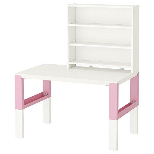 ZigZag Trading Ltd IKEA PAHL - Estantería de escritorio Blanco/rosa
