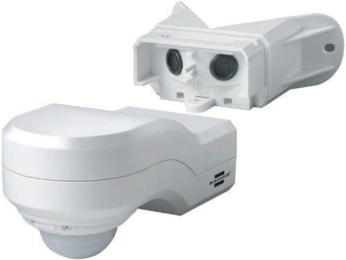 Brennenstuhl Bewegungsmelder Infrarot / Bewegungssensor für Außen und Innen - IP44 (240° Erfassungswinkel und 12m Reichweite) weiß