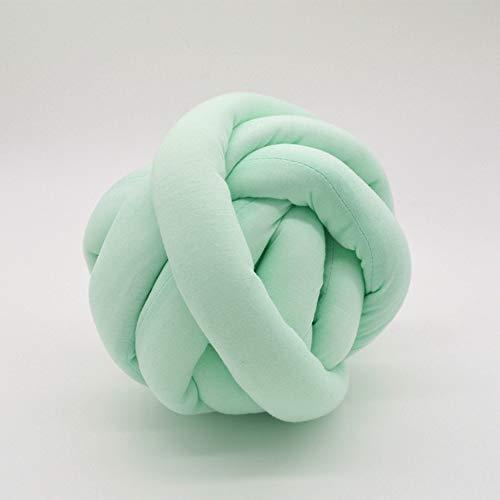 Wasbaar, volumineus katoengaren, handgebreide deken van acryl, volumineus, dikke dekens voor de arm. Blue