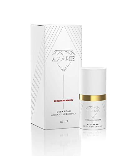 Axame - Augencreme Premium Feuchtigkeitsspendende Hypoallergene Anti-Aging Anti-Faltencreme mit Kaviarextrakt 15ml