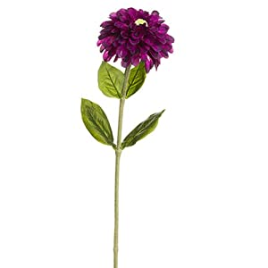 29″ Zinnia Silk Flower Stem -Purple (Pack of 12)