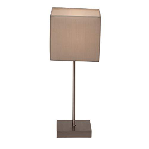 Brilliant Aglae tafellamp met touchschakelaar, 43 cm, grijs, 1 x E14 geschikt voor druppellampen tot max. 40 W.