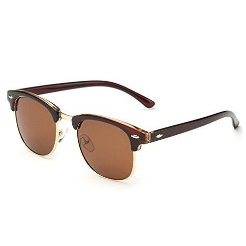 QHGstore Uomini Donne Sport Occhiali da sole polarizzati occhiali di protezione UV di vetro di Sun Marrone