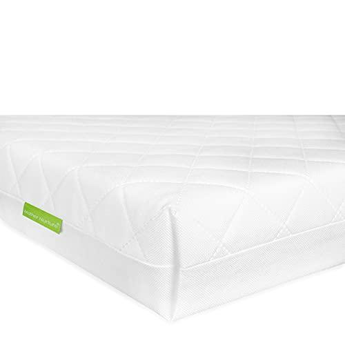 Mother Nurture Classic Foam Travel Cot Mattress, White, 95 x 65 x 7.5cm