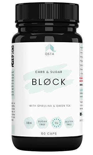 Keto Actives Carb & Sugar BLOCK 4000mg (60 CAPS) - Bloqueador de Hidratos & Azucar + Proteccion Aumento de Peso - Compañero perfecto para toda dieta y Protege de carbohidratos y azucar +MEDICOS