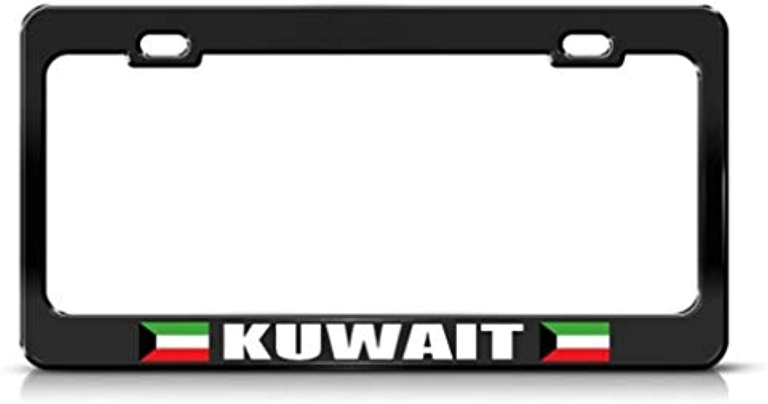 Kuwait Flag schwarz Country Country Country Metal License