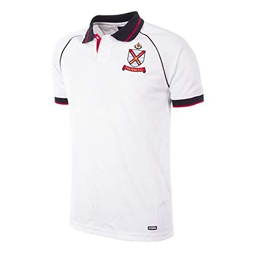 Copa Herren Fulham FC 1992–93 Retro Fußballtrikot Retro Fußballkragen T-Shirt L weiß