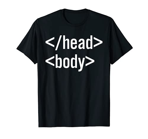 Head-Body HTML Tag Front-End Web Developer Camiseta