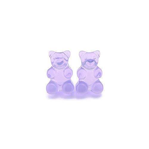 Purple Gummy Bear Metal Free Earrings on Plastic Posts
